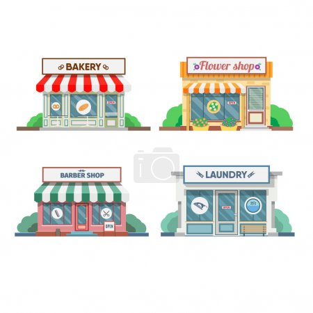 Set of commercial shops