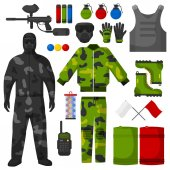 Set of sports equipment for Paintball