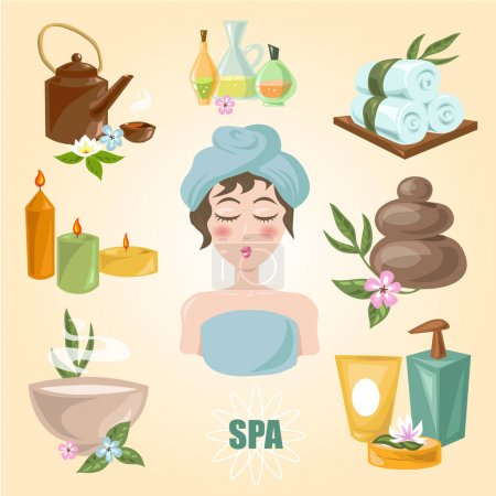Illustration for Spa emblems for beauty industry, vector, illustration - Royalty Free Image