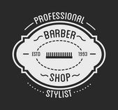 vintage logo of barber shop