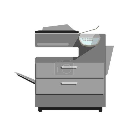 Flat printer copy machine icon
