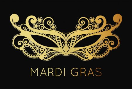 Mardi Gras mask of lace