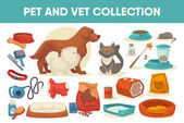 Set of pet care icons