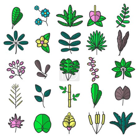 Illustration for Flowers flat icon, vector illustration - Royalty Free Image