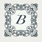 Flourishes calligraphic elegant ornament monogram logo