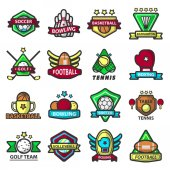 sports icons and logos