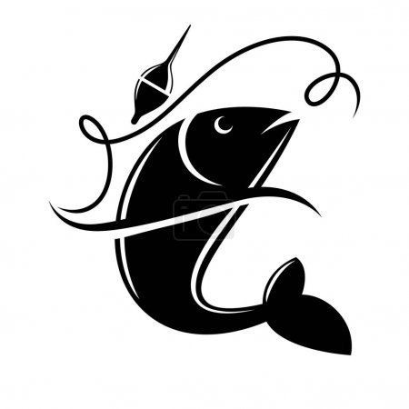 Fishing icon for fisherman club