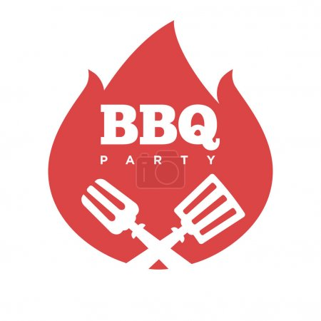 Illustration for Barbecue party icon, vector illustration - Royalty Free Image