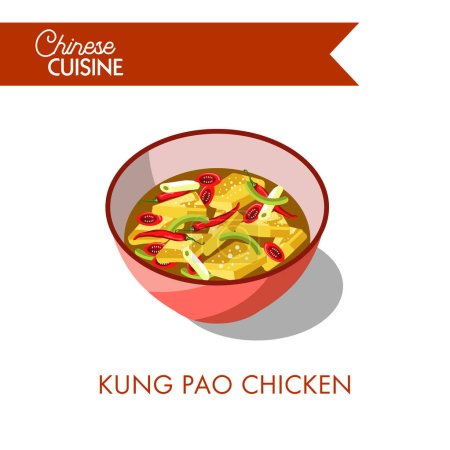 Kung pao in bowl icon
