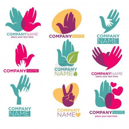 charity logos set