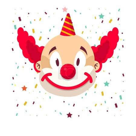 Illustration for Smiling clown icon, vector illustration - Royalty Free Image