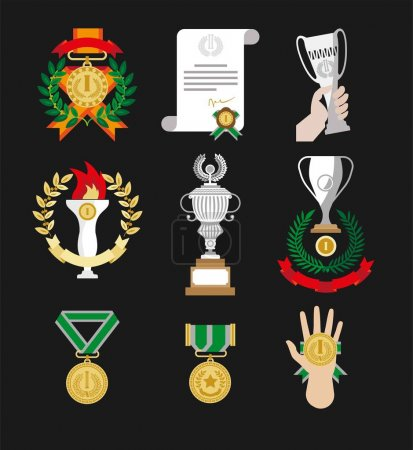 Champion awards and winner medals