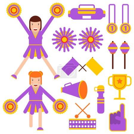 cheerleader girls performance garment accessories