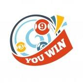 Bingo lotto lottery logo