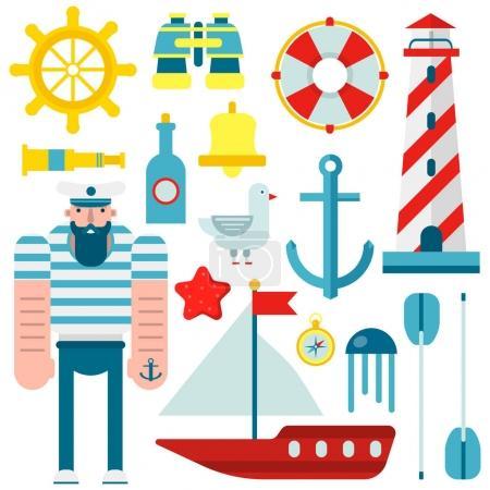 Marine nautical sailor symbols