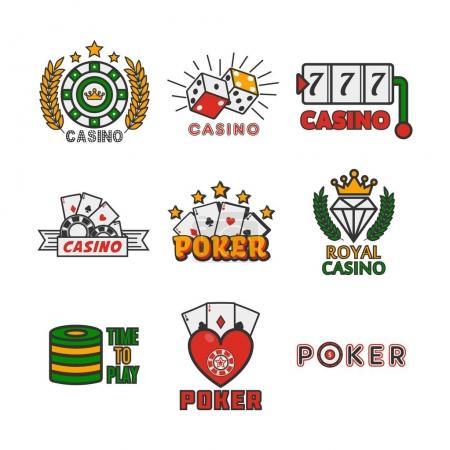 Casino emblem flat design