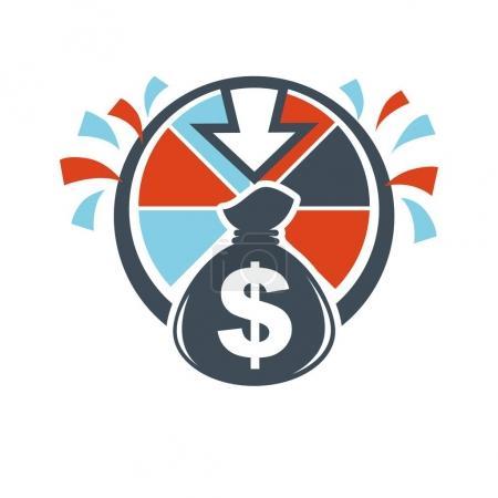 Lottery winnings money bag