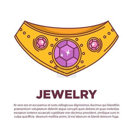 Luxury jewelry neck