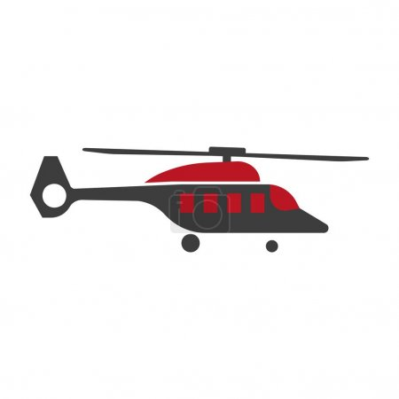 Cartoon helicopter icon