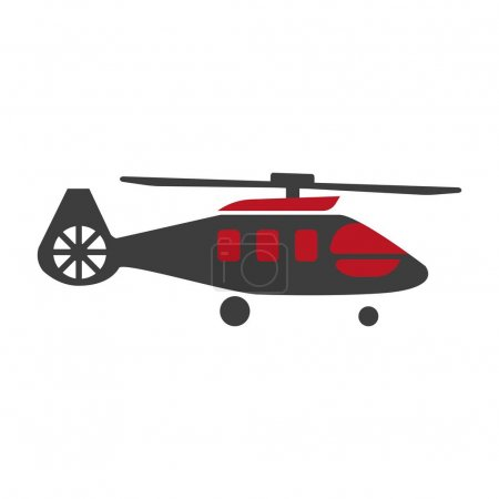 Military rescue helicopter icon