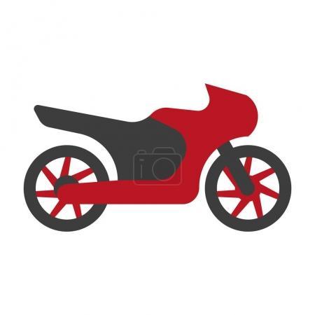 Мотоцикл Kawasaki силуэт