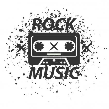 Rock music band logotype