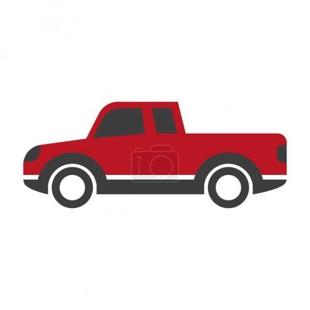 Red car pick up