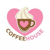 Coffee house colorful logotype