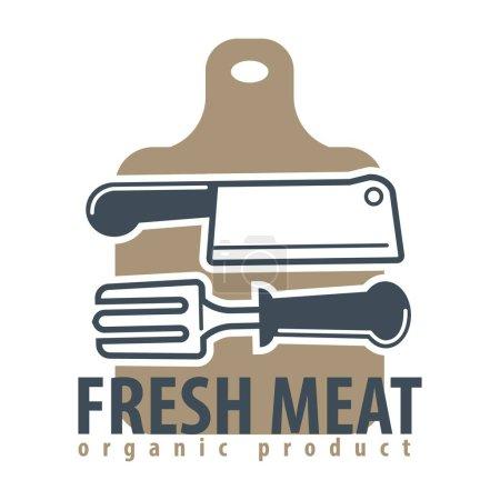Organic meat product logotype