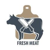 Butcher template logotype sign with cow