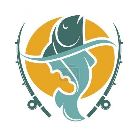 Fishing time logo