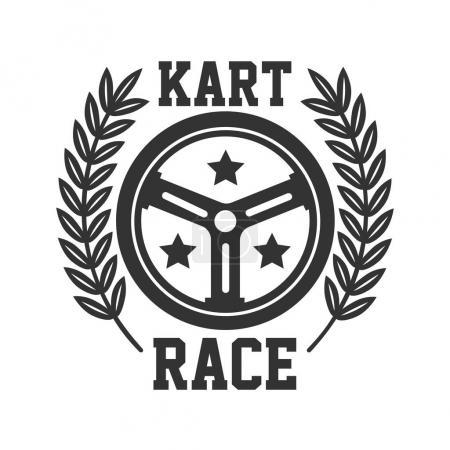 Kart race logotype