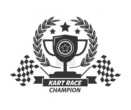 Karting logo champion cup