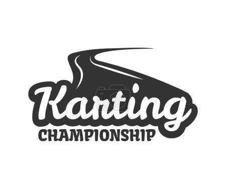 Karting championship logo template