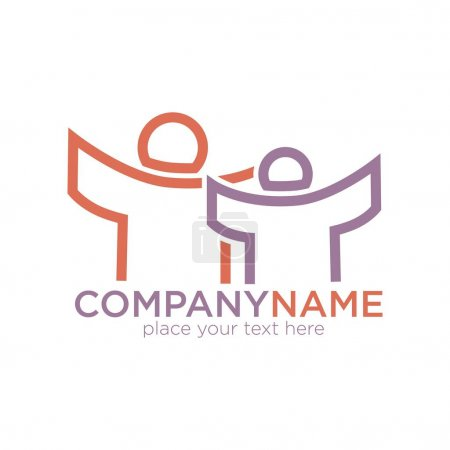 People outline logo template