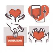 Blood donation logo templates