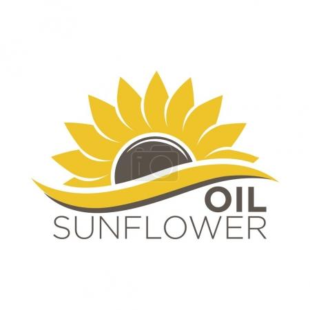 organic sunflower oil logotype