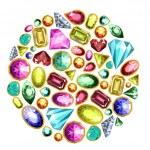 Постер, плакат: Gems and diamonds set