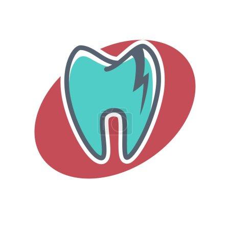 Dental logo on oval shape