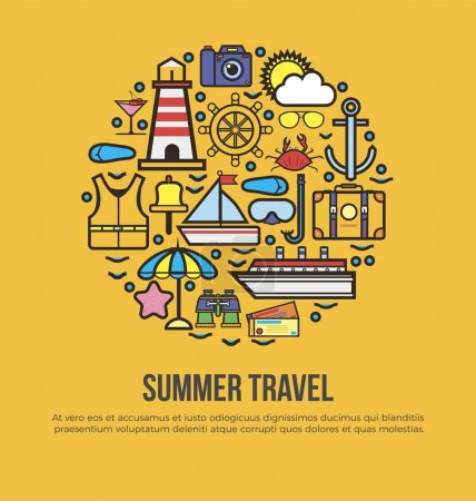 Summer travel conceptual banner