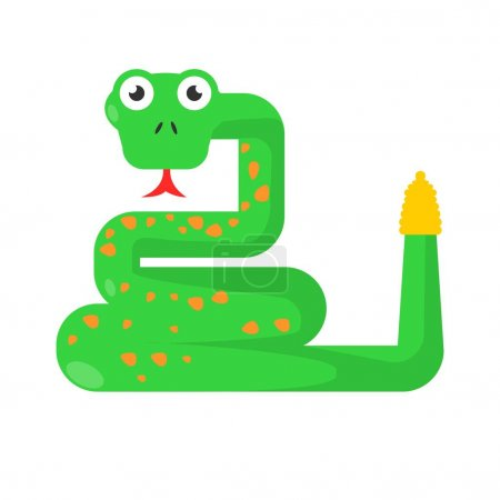 Green twisted snake