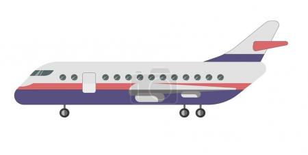 Passenger aircraft illustration
