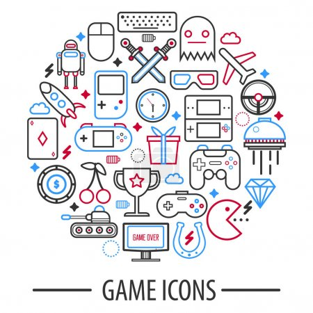 Computer game icons