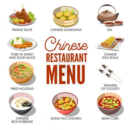 Chinese restaurant menu cover