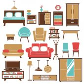 Home furniture and room interior accessories