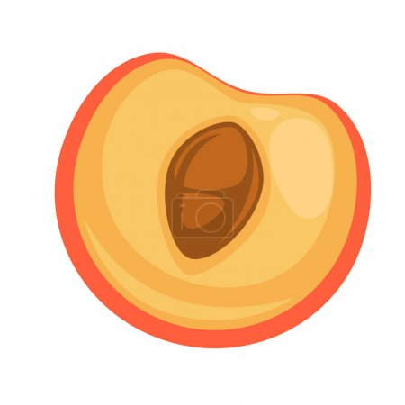 half of appetizing peach