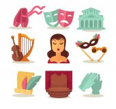 Set with theatre attributes