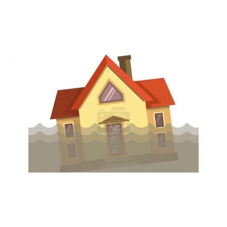 House during the flood