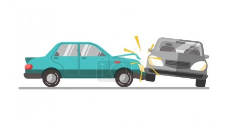 Car accident on a road