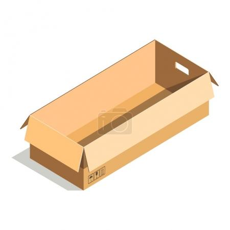 Delivery shipping package, square rectangular container, carton store package isolated